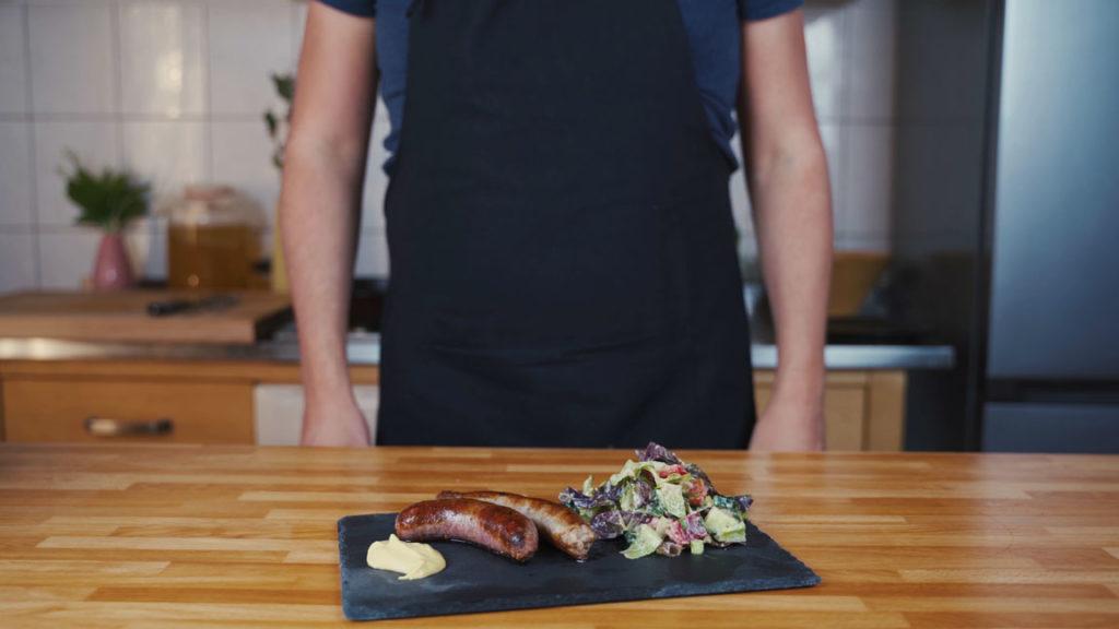 Bratwurst ready