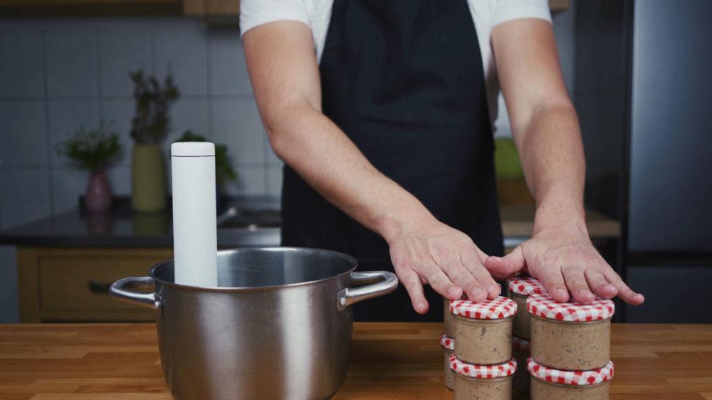 Liverwurst-fill them in jars