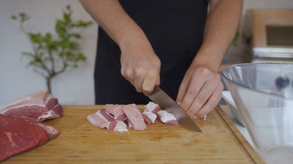 Homemade Krakauer - cut