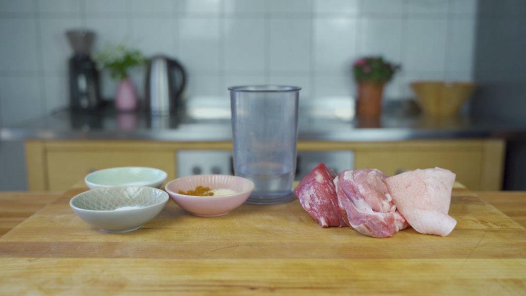 Schinkenwurst-all Ingredients
