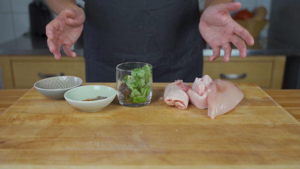 Chicken sausage -all ingredients