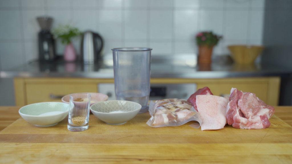 Jagdwurst-all ingredients