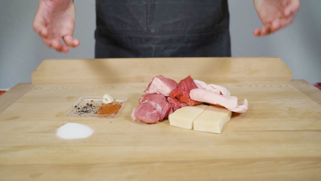 Käsekrainer- all ingredients
