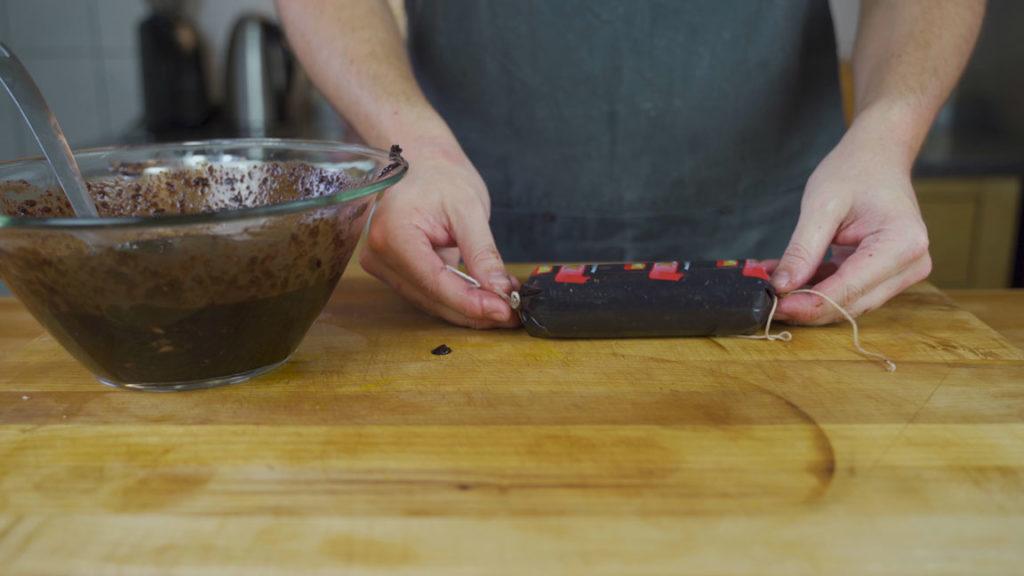 blood sausage - cook