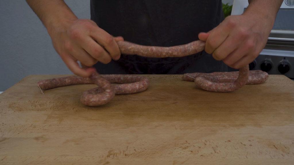 wild boar sausage - twist
