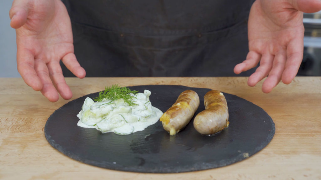 Cheese sausage-ready