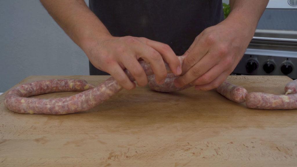 Cheese sausage-twist