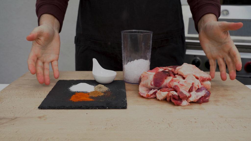 beef sausage-all ingredients